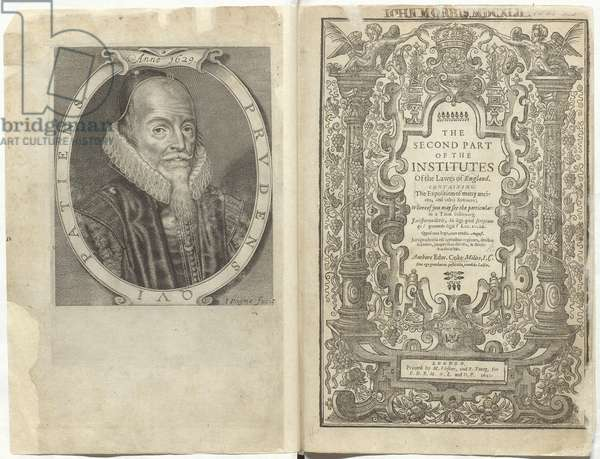"""Written in the late 1620s, Sir Edward Coke's Institutes was a pioneering four-volume treatise on English common law. While the first volume was published in 1628, the final three volumes appeared only posthumously, because the manuscripts in question had been confiscated on the orders of Charles I. The confiscation of these documents was prompted by Coke's Second Institute, which included an extensive clause-by-clause analysis of Magna Carta. As stated in the Proeme, this book eulogised the Great Charter, explaining that, 'It is called Magna Charta, not that it is great in quantity """"¦ but in respect of the great importance and weightinesse of the matter'. King Charles I's efforts to suppress the work proved short-lived. Recognising its potential for propaganda, Parliament ordered in 1640 that Coke's papers be recovered and published. Coke's Second Institute was finally printed in 1642 on the eve of the English Civil Wars"""