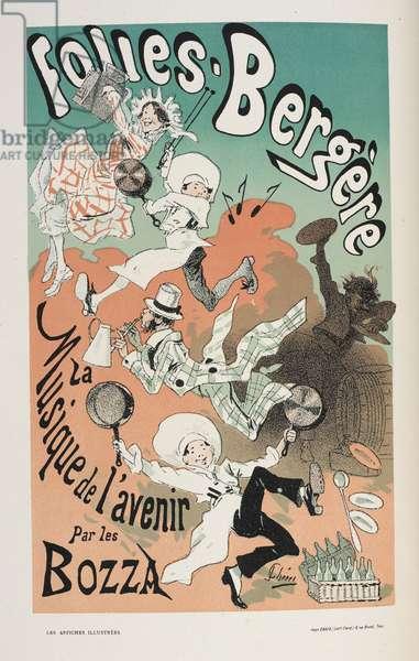 Folies-Bergere, La Musique de l'avenir, from 'Les affiches illustrées. Ouvrage orné de...', by Ernest Maindron, 1886 (colour litho)