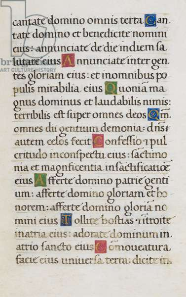 Text page; Psalm 95