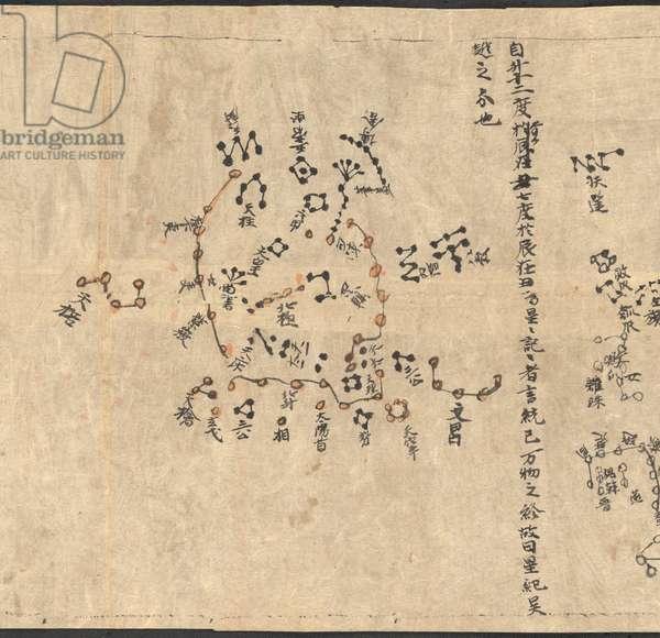Chinese star chart (detail)