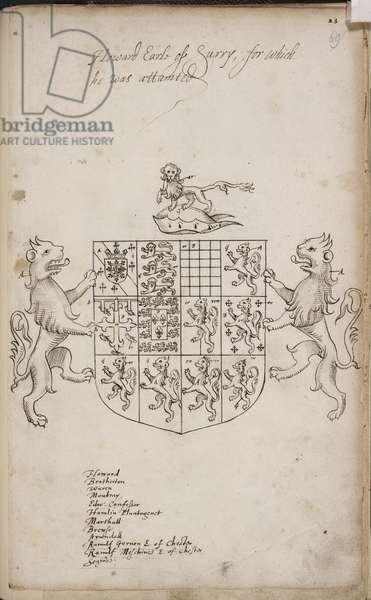 Coat of Arms of Thomas Howard, 4th Duke of Norfolk
