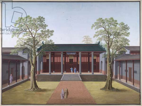 Honam Temple - Hall of the Mystery of Nirvana, 1800-05 (opaque w/c on paper)