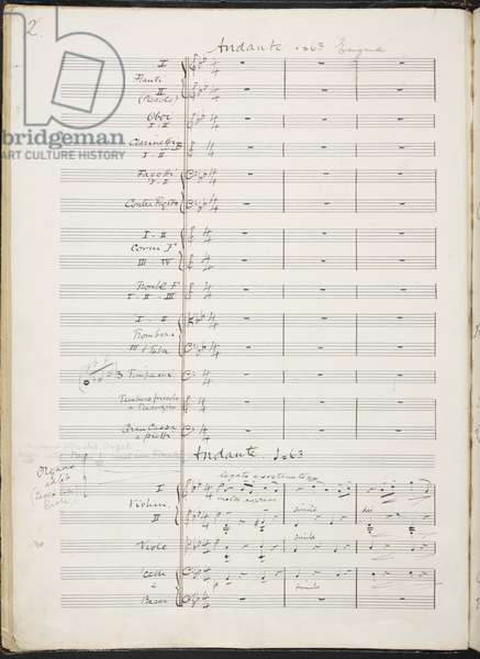 Add. 58004, f. 1v, from 'Autograph manuscript of Variations on an Original Theme - Enigma', by Edward Elgar, 1898-99 (pen & ink on paper)