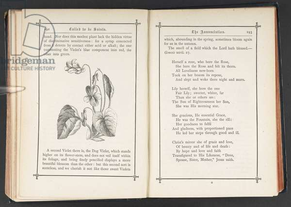 Pages 192-193 from 'Called to be Saints: the minor festivals devotionally studied', by Christina G. Rossetti, 1881 (litho)