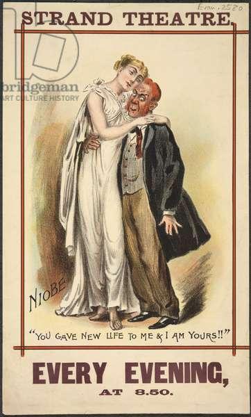 Strand Theatre poster, 1892 (colour litho)