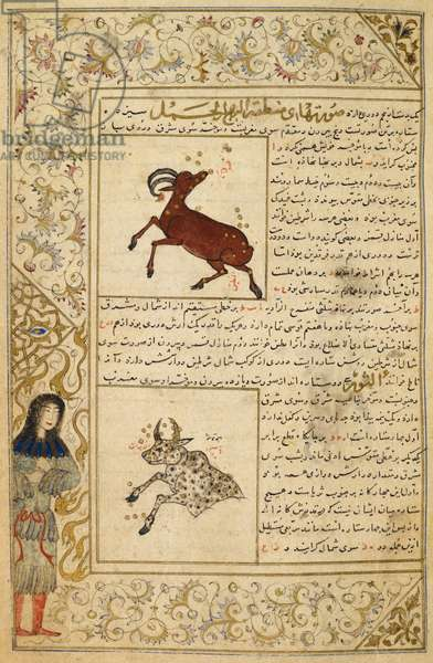 Aries and Taurus. Illustrations to a treatise on astrology