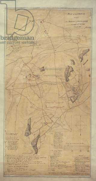Add.16368 C Survey of the field of Agincourt, 1818 (litho)