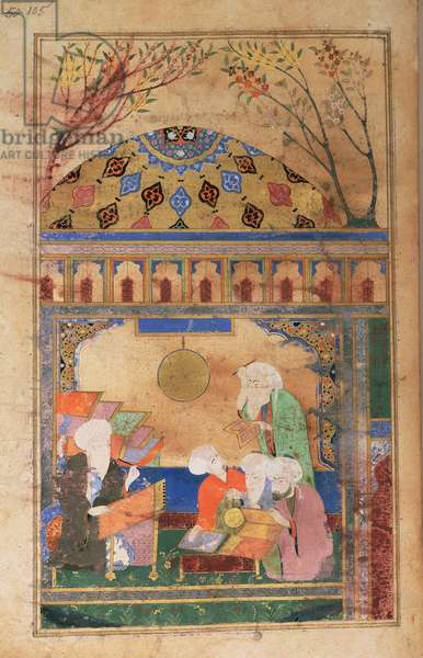 Or 3222 f.105 Nasireddin's observatory at Merega, Astrolabes and other instruments, Persian