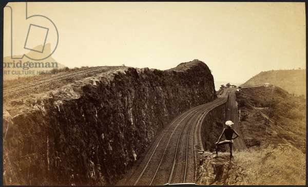 [View of the Reversing Station on the Bhore Ghat Incline, Bombay- Pune Railway.]