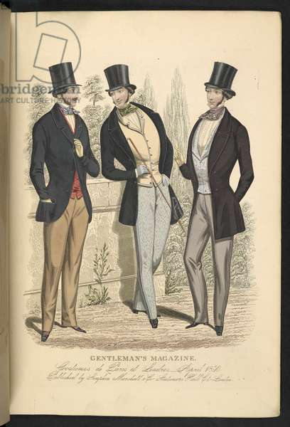 Costumes de Paris et Londres. April 1850. Plate 12.The Gentleman's Magazine of Fashion, Fancy Costumes, and the Regimentals of the Army.London, England : 1828