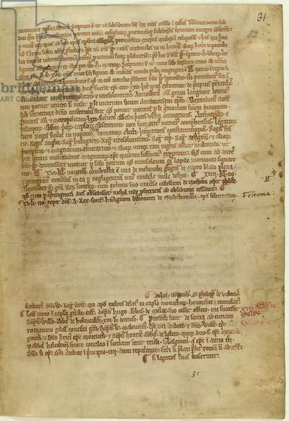 Verse account of the Magna Carta for the year 1215