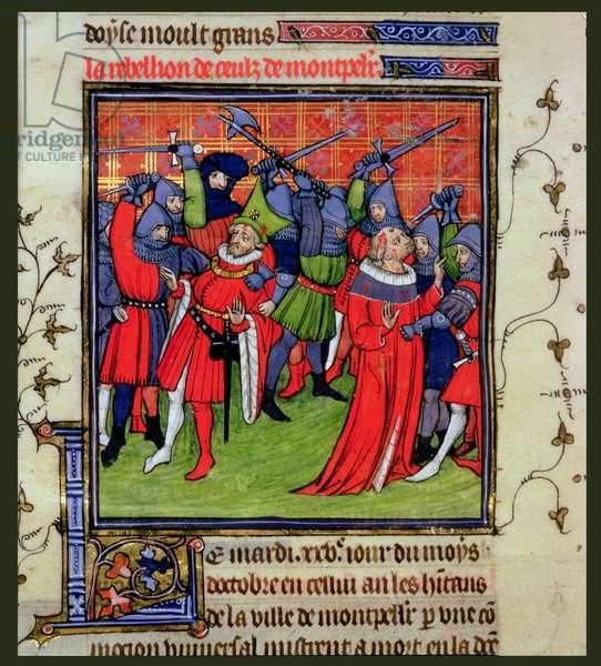 Roy 20 C VII f.212v Revolt at Montpellier