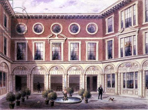 Crace XXXVII-123 The Inner Court of Tallow Chandlers' Hall, Dowgate Hill, 1852