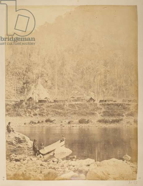 Village at the copper mines on the Teesta.Views of Darjeeling1870's