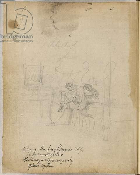 Sketch and poem of Blake