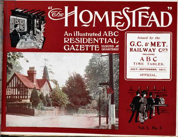 Front cover of 'The Homestead' which attempted to encourage new residents to the western suburbs of London
