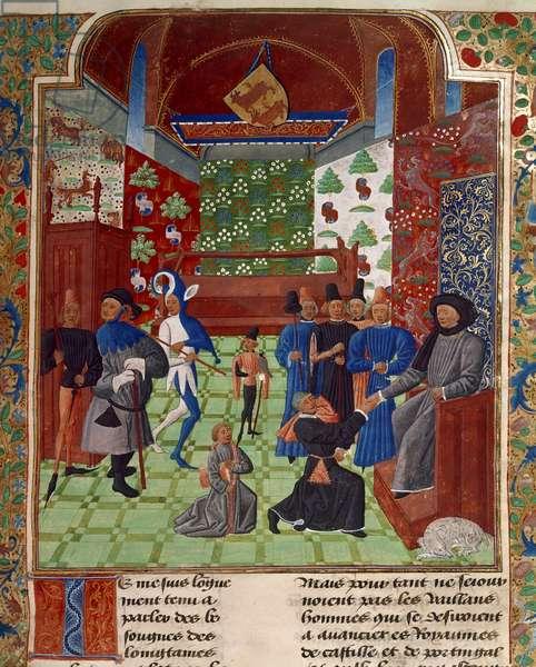 Froissart presents his book