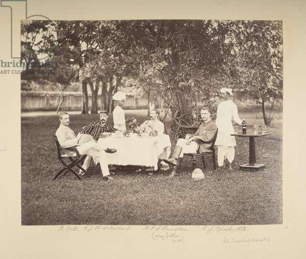 Picnic, 1882 (b/w photo)