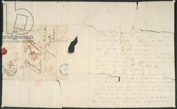 Letters from Charlotte Bronte to Prof. Constantin Heger, 1844-45 (ink on paper)