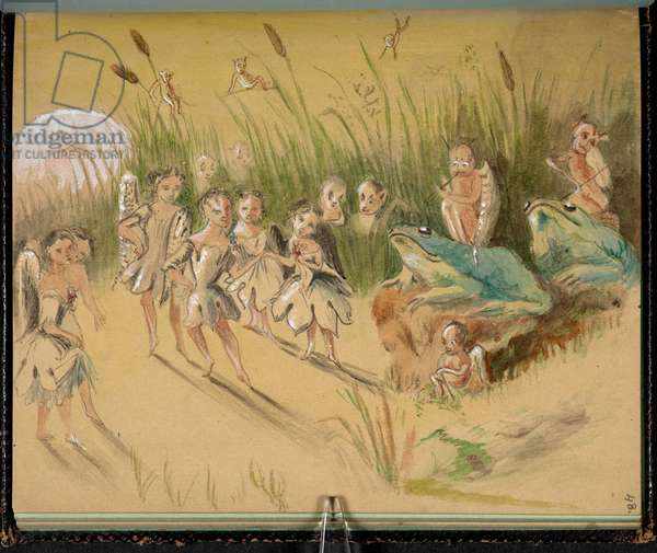 F. 48: Fairies, from 'Sketch book with scenes from Charles Dickens stories' (pencil & w/c on paper)