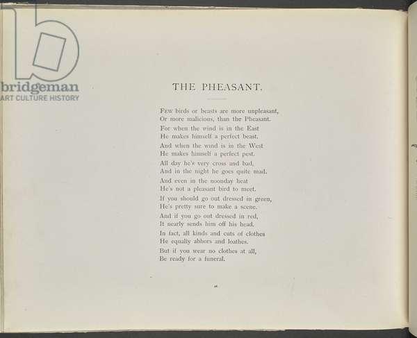 Poem: The pheasant.