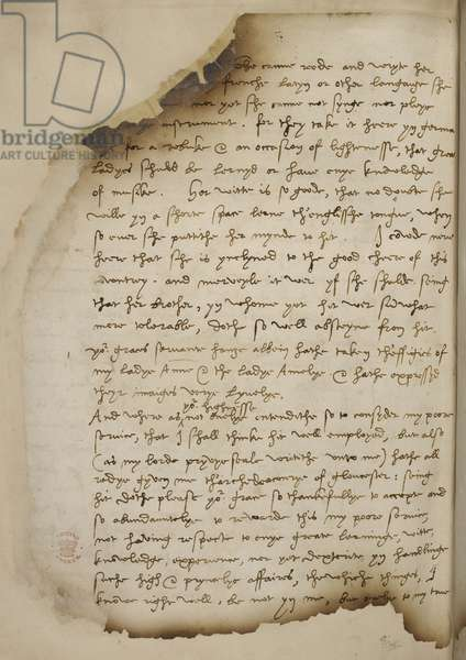 Letter from Nicholas Wotton to King Henry VII concerning Anne of Cleves