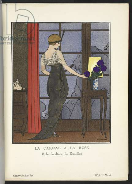 """COPYRIGHT. André-Edouard Marty (French, 1882-1974), Illustrating design by Georges DÅ""""uillet (French (1865-1929)),"""