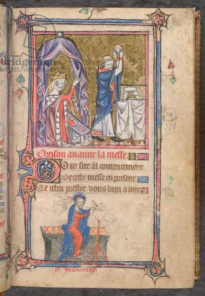 Yates Thompson 13 f.7, A queen praying (vellum)