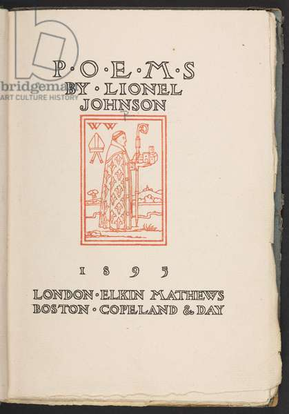 Title page of 'Poems' by Lionel Johnson, 1895 (print)