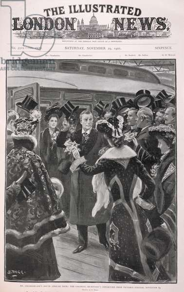 Mr Chamberlain's South African tour: The colonial secretary's departure from Victoria Station, November 25'.