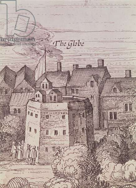 The Globe Theatre, detail from an engraving, 1616