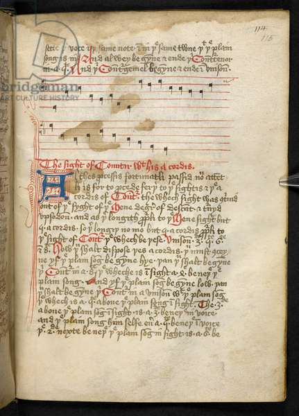 Lansdowne 763, f.115r, A Volume fairly written on vellum in the fifteenth century, and containing ancient and very interesting treatises on musick by different authors.