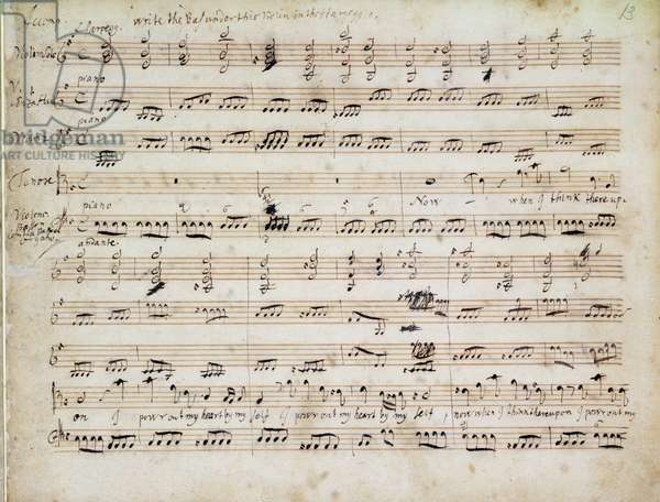 Tenor Aria, 'Now when I think thereupon...' from Handel's Chandos Anthems