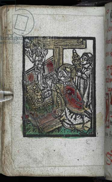 The Mass of St Gregory. Middle German prayer-book. 1485