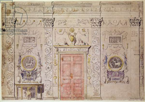 St. James's, Spencer House, design for a Room, c.1760 by James Stuart (1713-88)