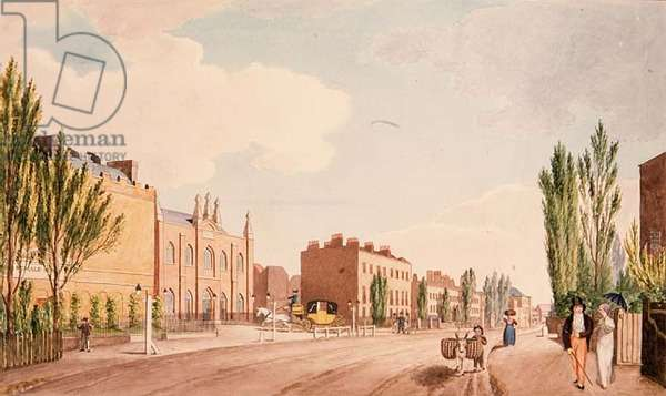 Crace XXXV - 16 View of the Female Reform and the New Chapel of the Philanthropic School, St. George's Field, 1805 (print)