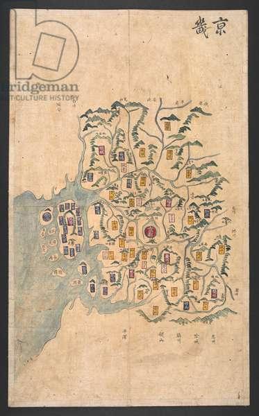 Or. 15965, f.1KyŏnggiYŏjido. Ch'ŏnha, Chosŏn, Chungguk, Ilbon, Yugyu12 double-page hand-coloured maps. Individual maps measure approx. 605 x 365 mm. 1750-1850