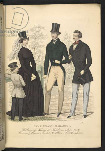 Costumes de Paris et Londres. May 1850. Plate 13.The Gentleman's Magazine of Fashion, Fancy Costumes, and the Regimentals of the Army.London, England : 1828