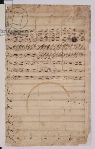 R.M.20.h.5 f1 Original score for the Coronation Anthem for George II and Queen Caroline, 1727 (see also 65431)