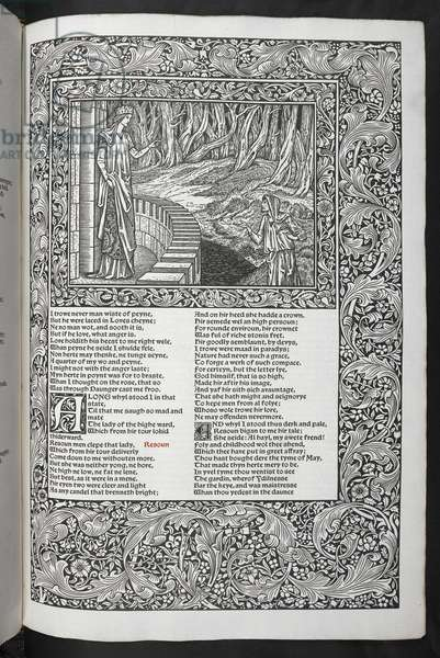 'The Works of Geoffrey Chaucer now newly imprinted with pictures designed by Sir Edward Burne-Jones', 1896 (engraving)