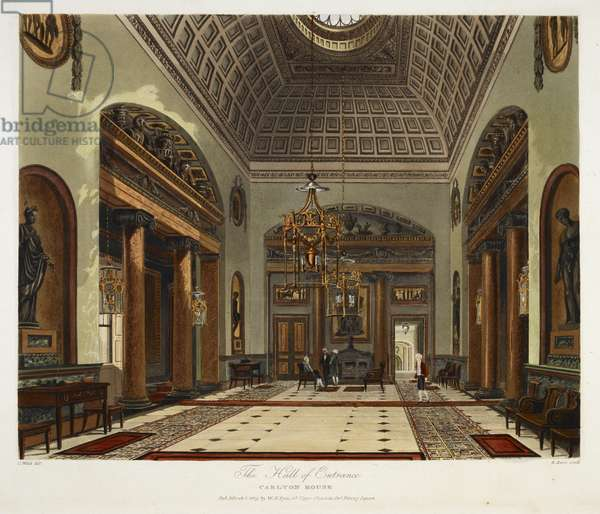 The hall of entrance. Carlton house.