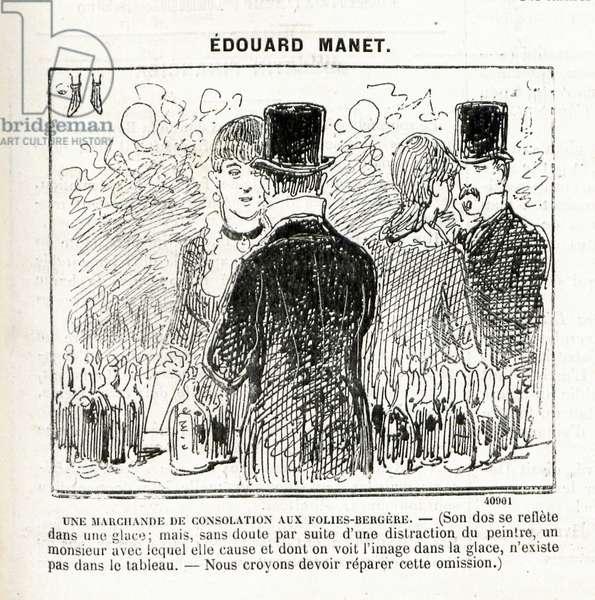 'Une marchande de consolation aux Folies-Bergère', in Le Journal Amusant, 27 May 1882, p. 5. (engraving)