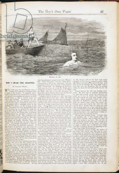 How I swam the channel'. By Capt.Webb.
