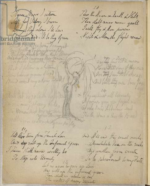 Poem and sketch by Blake