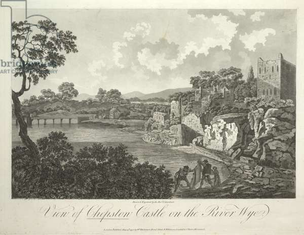 A view of Chepstow Castle on the River Wye