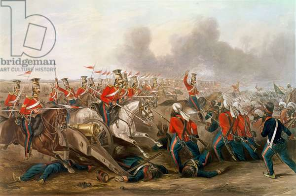 Charge of the 16th Queen's Own Lancers at the battle of Aliwal, 1846