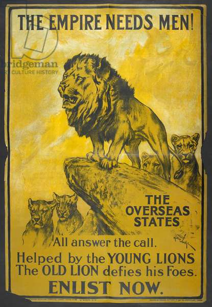 'The empire needs men !' A recruitment poster aimed at the British colonies.