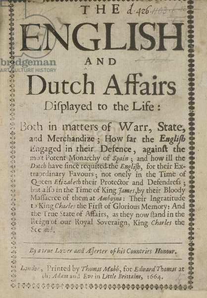 English and Dutch affairs