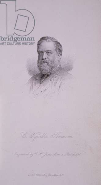 Sir Charles Wyville Thomson (1830-88), Oceonographer. Engraving by C.H. Jeens