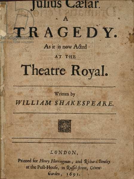 Title page of Julius Caesar